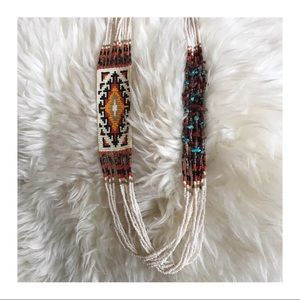 Vintage Native American Seed Bead Necklace🌵